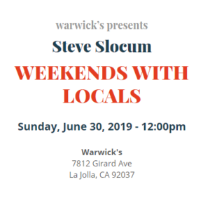 Author & Peace Activist, Steve Slocum, at Warwick's @ Warwick's