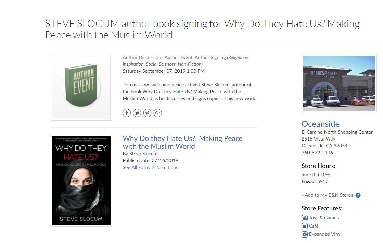 Book Signing Event, Barnes & Noble, Oceanside @ Barnes & Noble